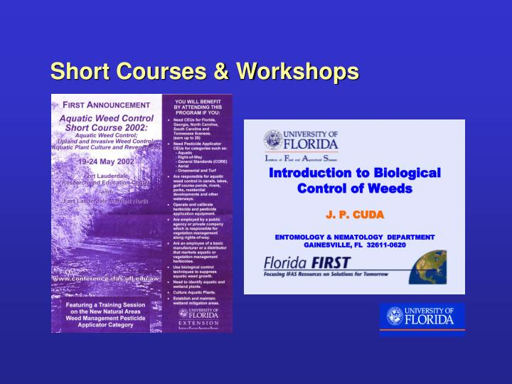 Short Courses & Workshops