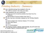 printing industry summary