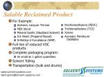 salable reclaimed product