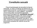 constitutia sexual