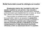 rolul factorului sexual n etiologia nevrozelor