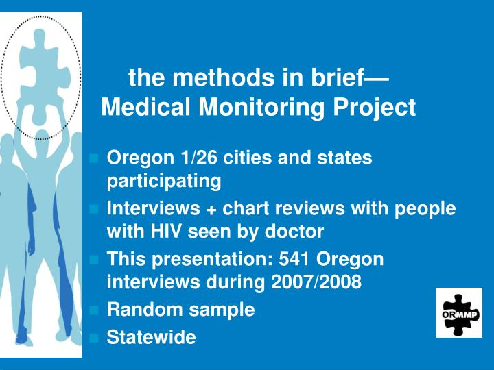 The methods in brief medical monitoring project