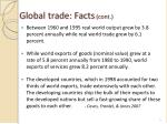 global trade facts cont