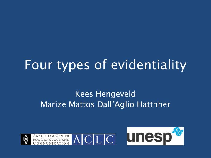 four types of evidentiality n.