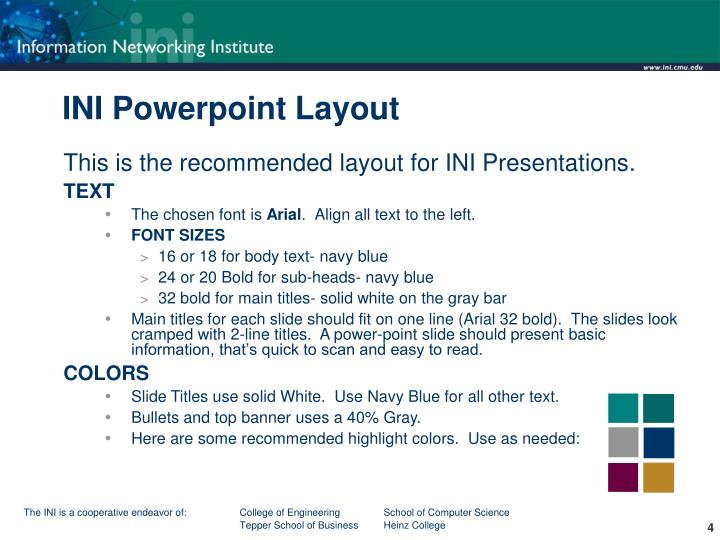INI Powerpoint Layout