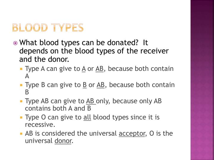 Blood types