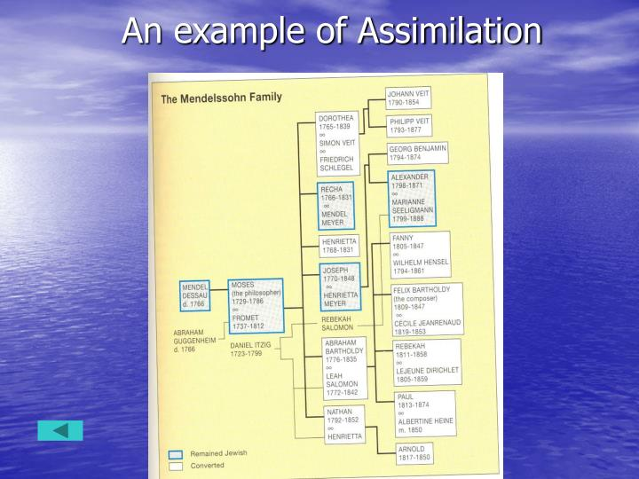 An example of Assimilation