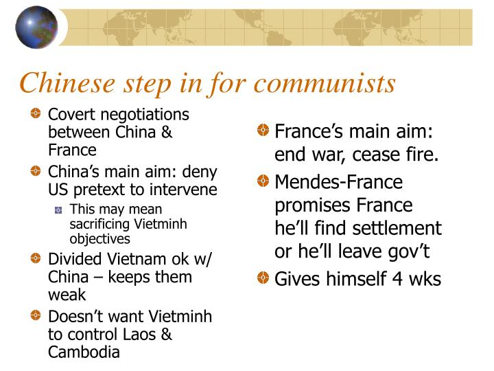Covert negotiations between China & France