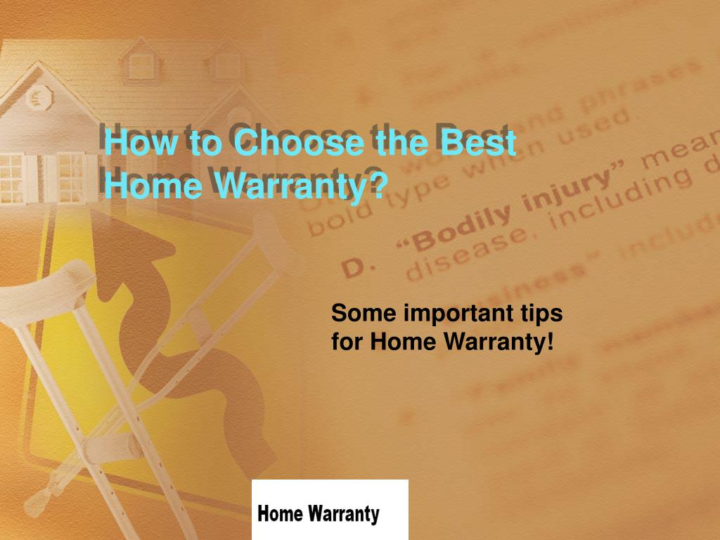 how to choose the best home warranty l.