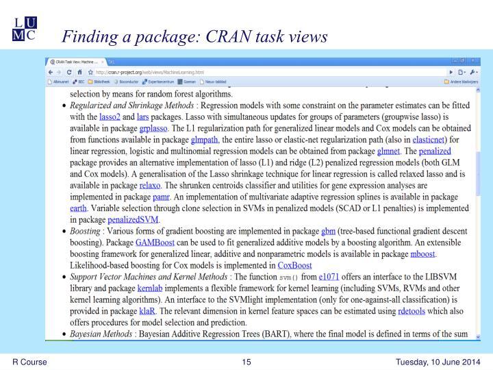 cran task views