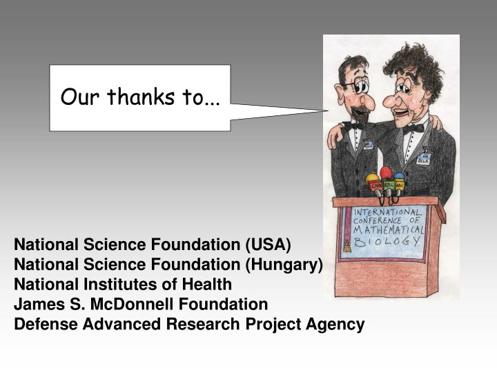 Our thanks to...