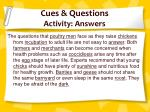 cues questions activity answers