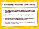 identifying similarities differences