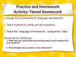 practice and homework activity tiered homework