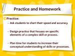 practice and homework