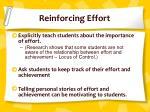 reinforcing effort