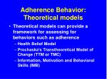 adherence behavior theoretical models