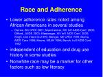 race and adherence