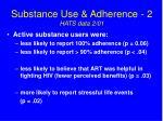 substance use adherence 2 hats data 2 01