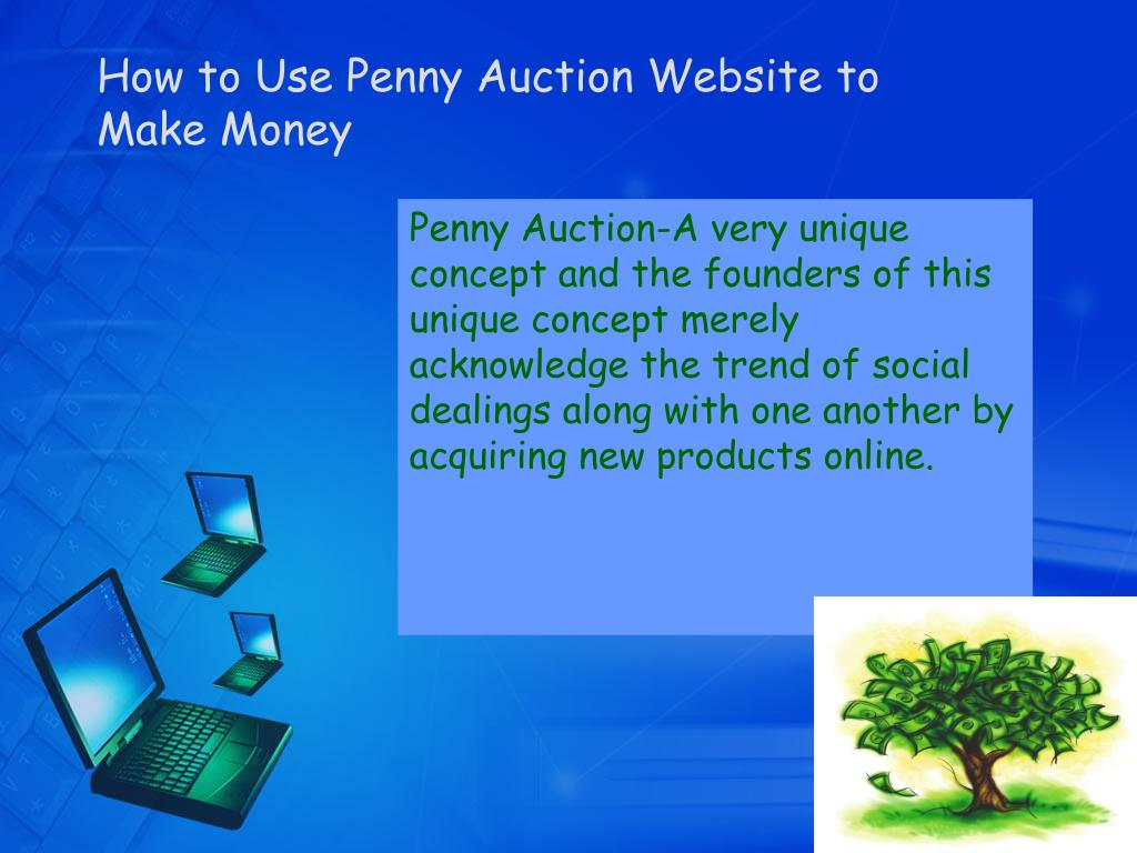 how to use penny auction website to make money l.