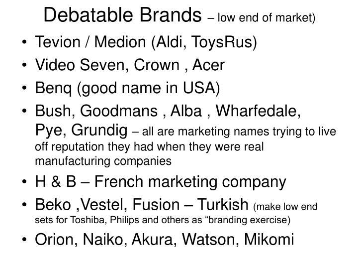 Debatable Brands
