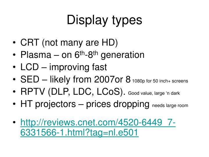 Display types