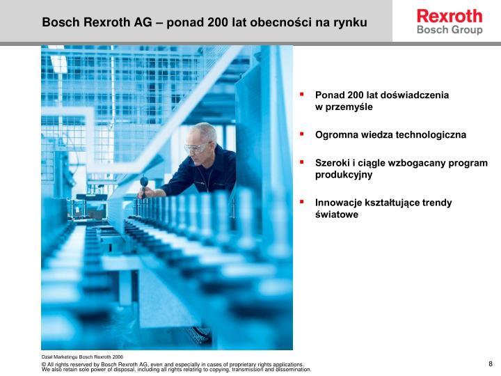 Bosch Rexroth AG – ponad 200 lat obecności na rynku