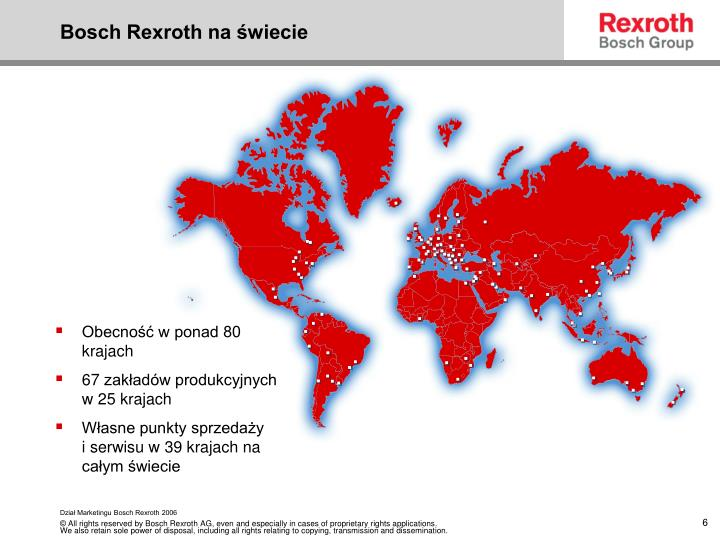 Bosch Rexroth na świecie