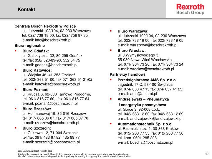 Centrala Bosch Rexroth w Polsce