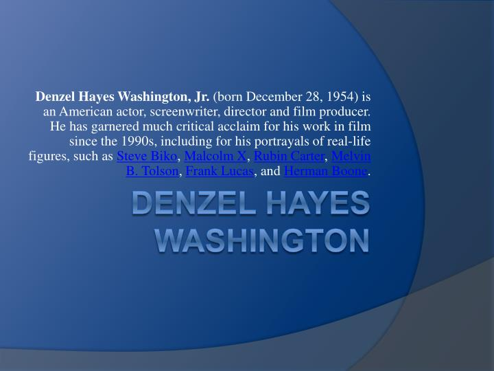 denzel hayes washington n.