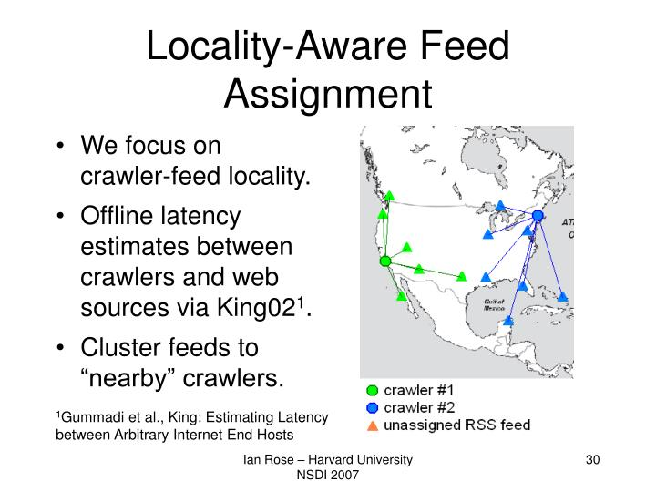 Locality-Aware Feed Assignment