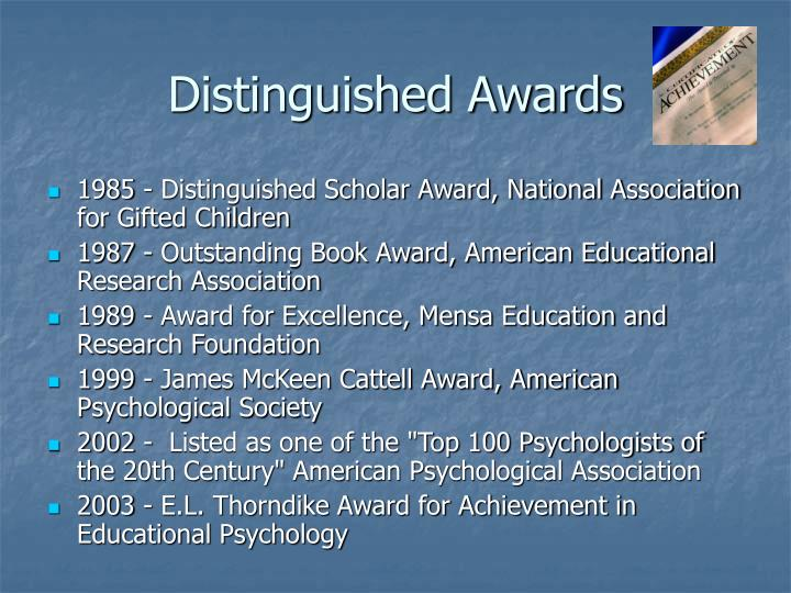 Distinguished awards