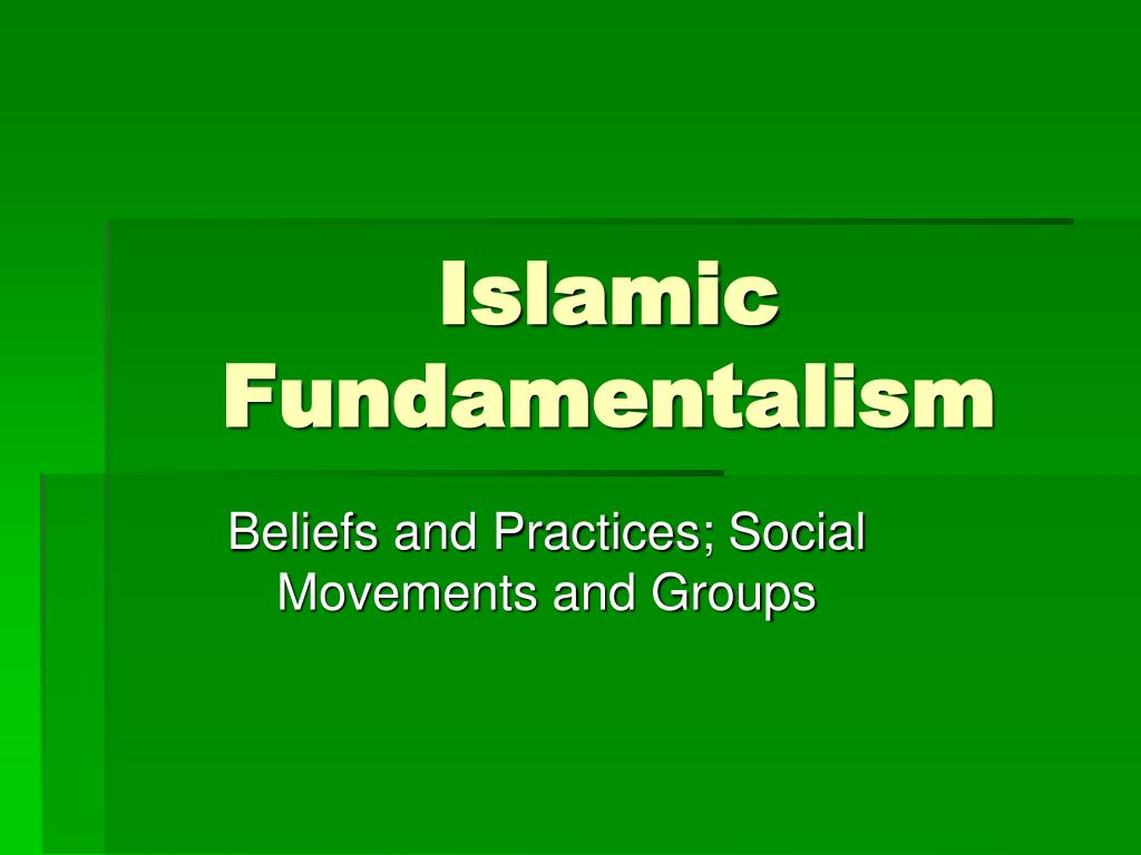 islamic fundamentalism l.