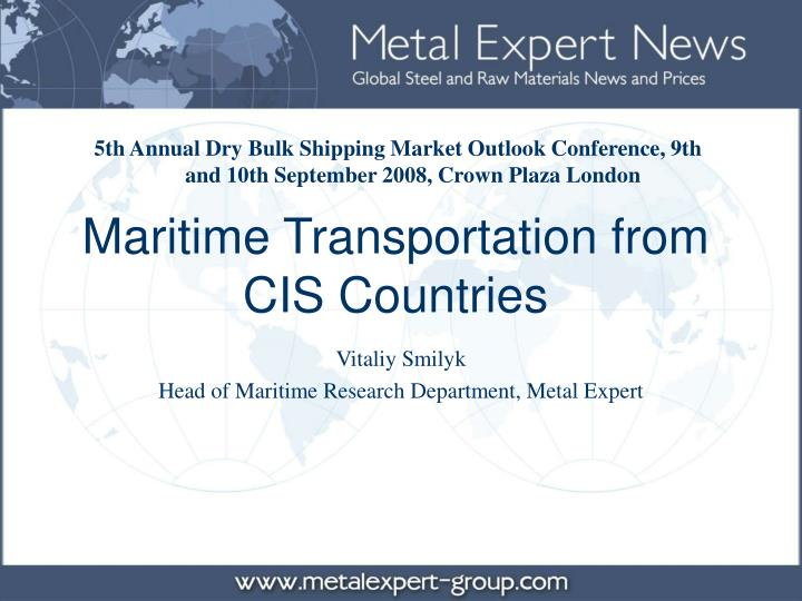maritime transportation from cis countries n.