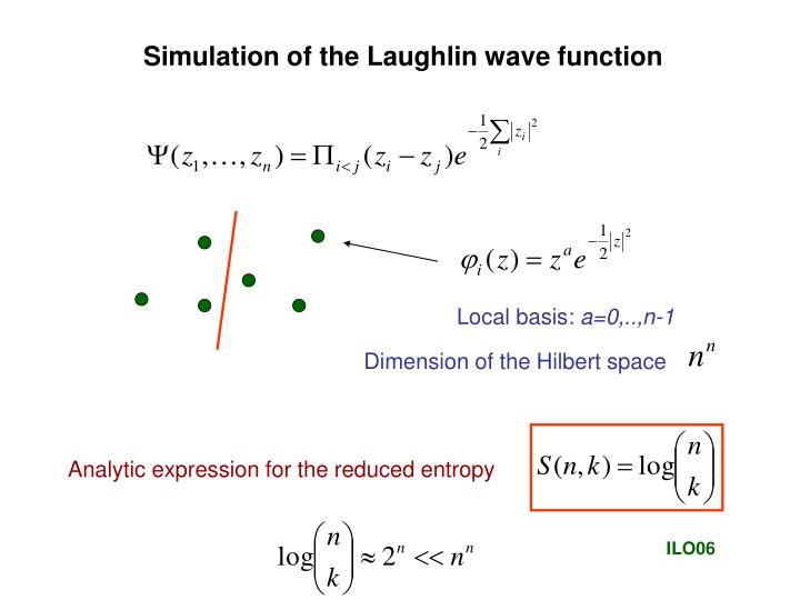 Simulation of the Laughlin wave function