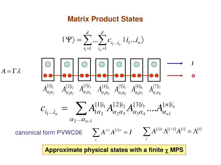 Matrix Product States