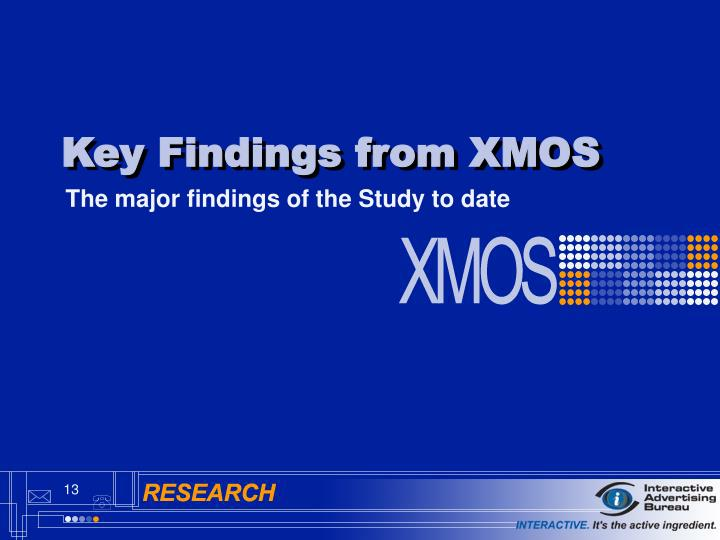 Key Findings from XMOS