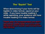 the squint test
