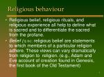 religious behaviour