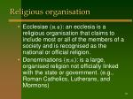 religious organisation