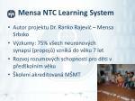 mensa ntc learning system