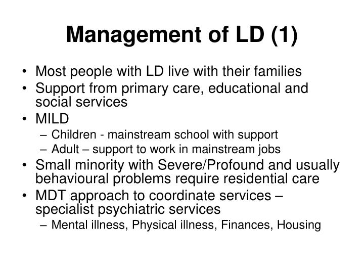 Management of LD (1)
