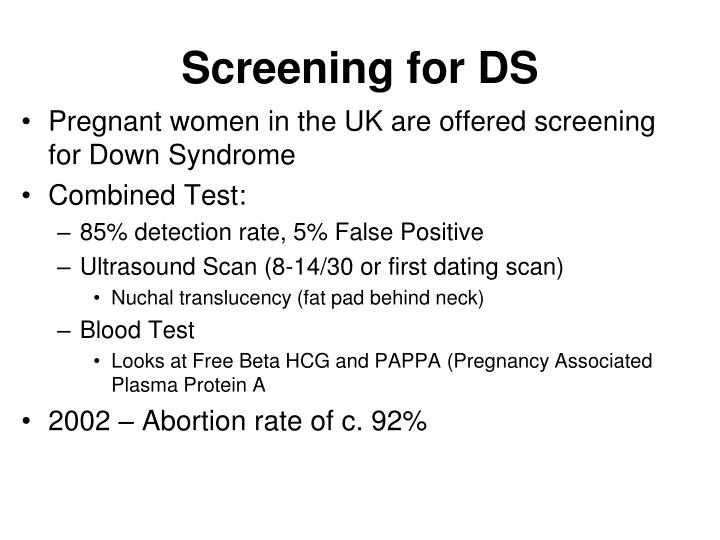 Screening for DS