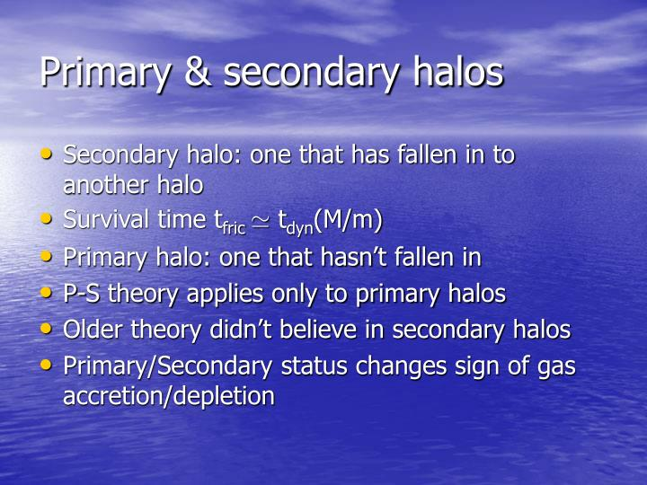 Primary & secondary halos
