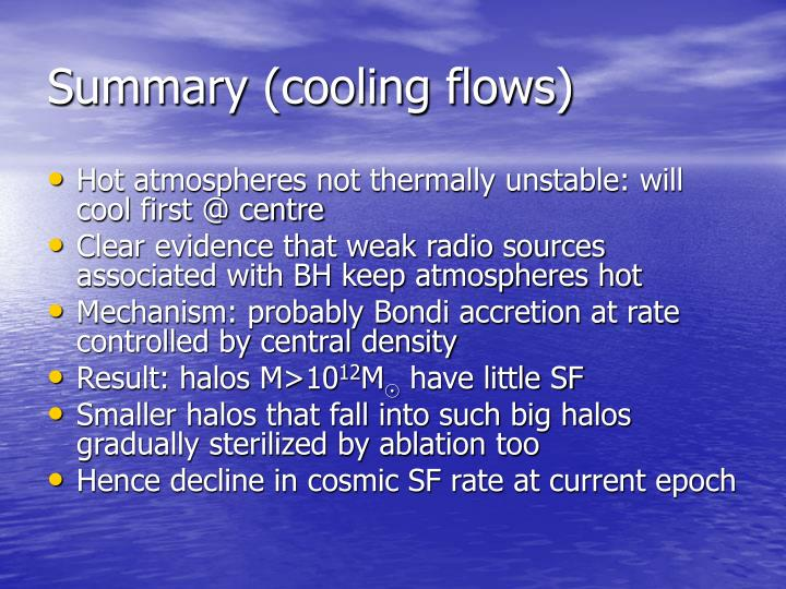 Summary (cooling flows)