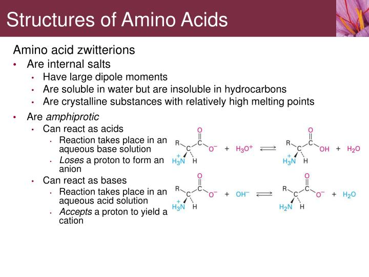 Amino acid zwitterions