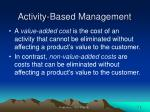 activity based management1