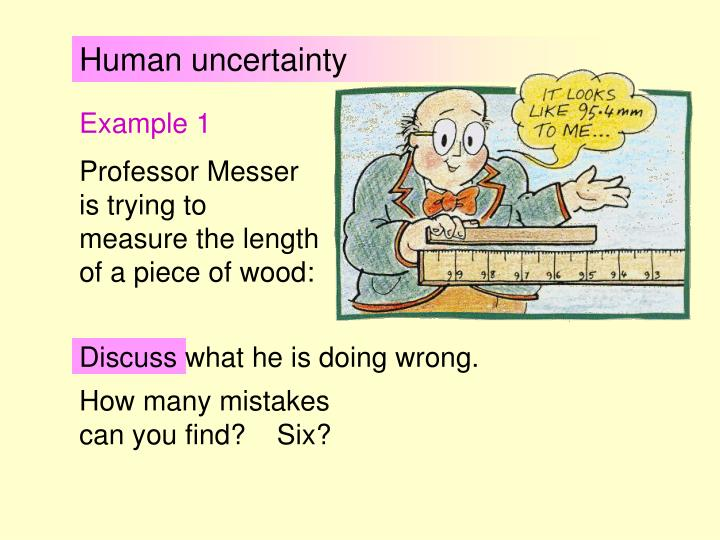 Human uncertainty