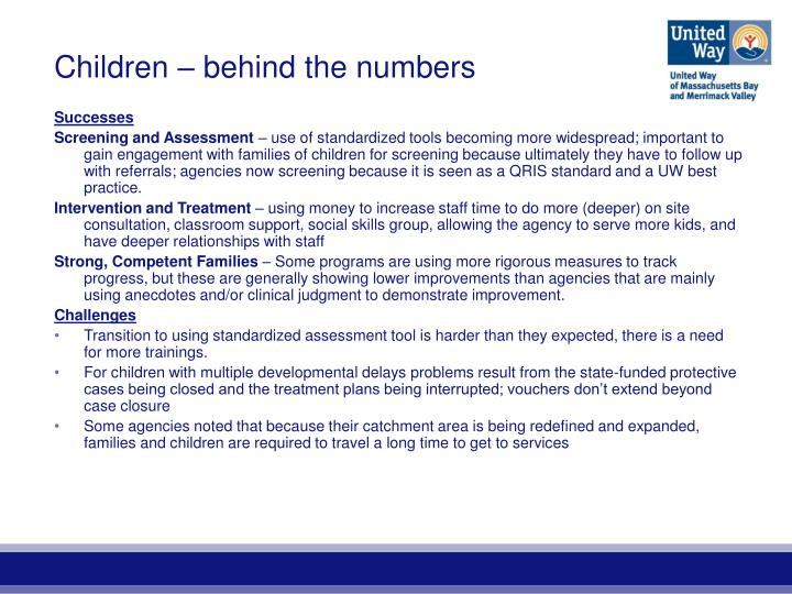 Children – behind the numbers