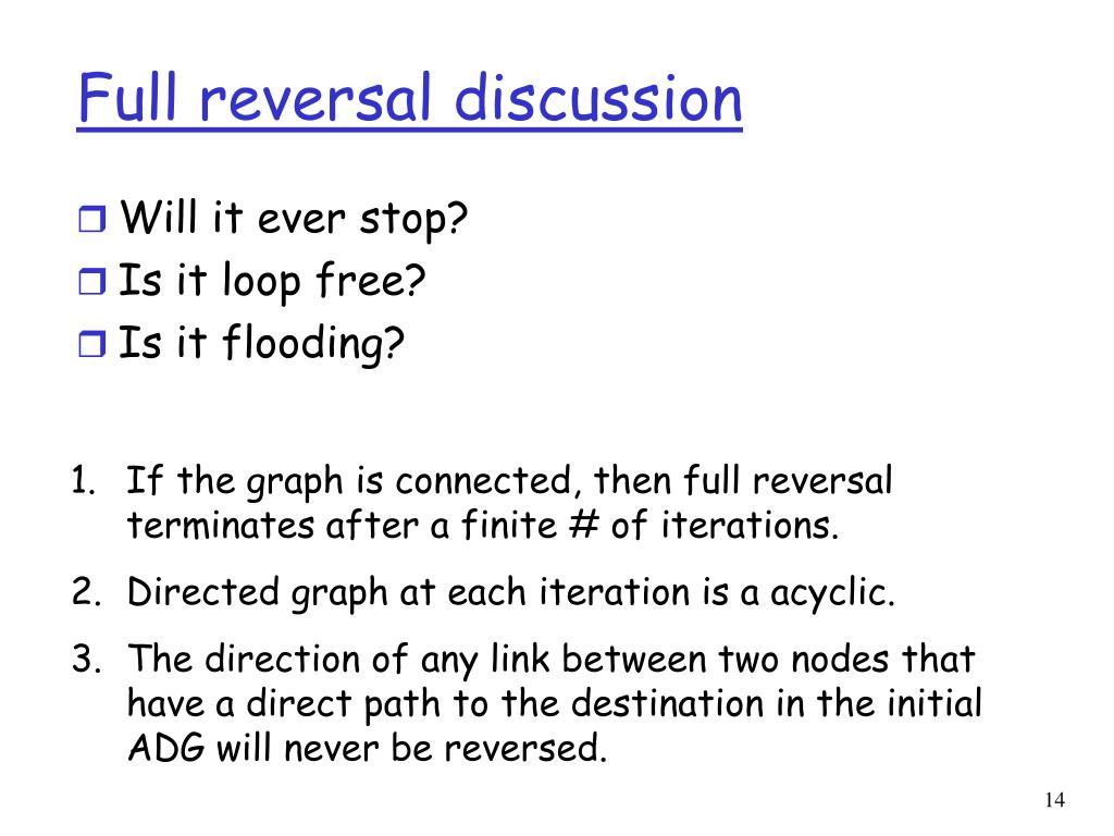 Full reversal discussion